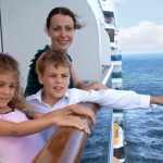 Family on cruise holiday