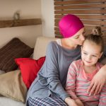 Cancer patient and her daughter