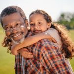 Grand-father and grand-daughter on respite break