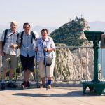 Tourists on the Rock of Gibraltar