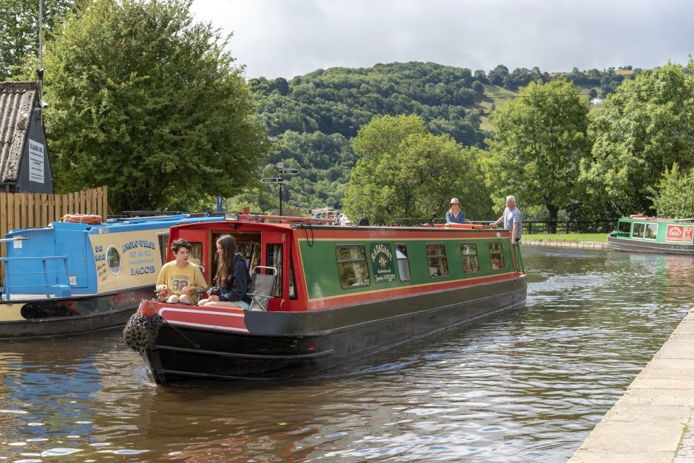 The Llangollen Canal, Trevor Basin, Denbighshire, North Wales, UK. Holidays afloat