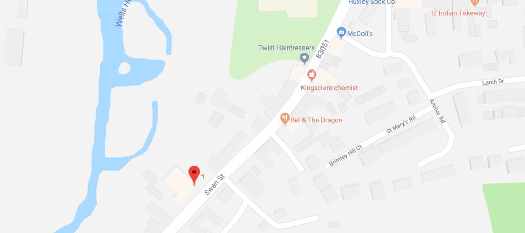 Kingsclere-map